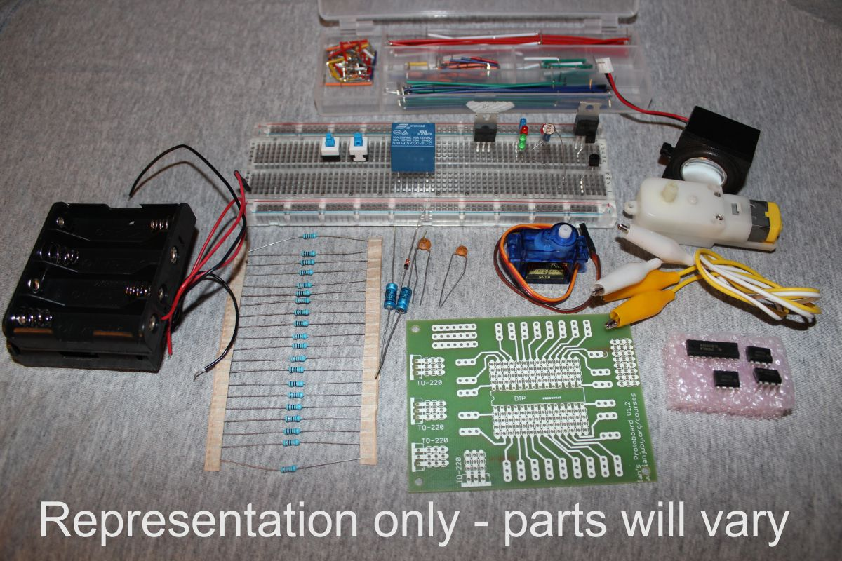 Electricty Electronics Kit For Robotics Course Part 1